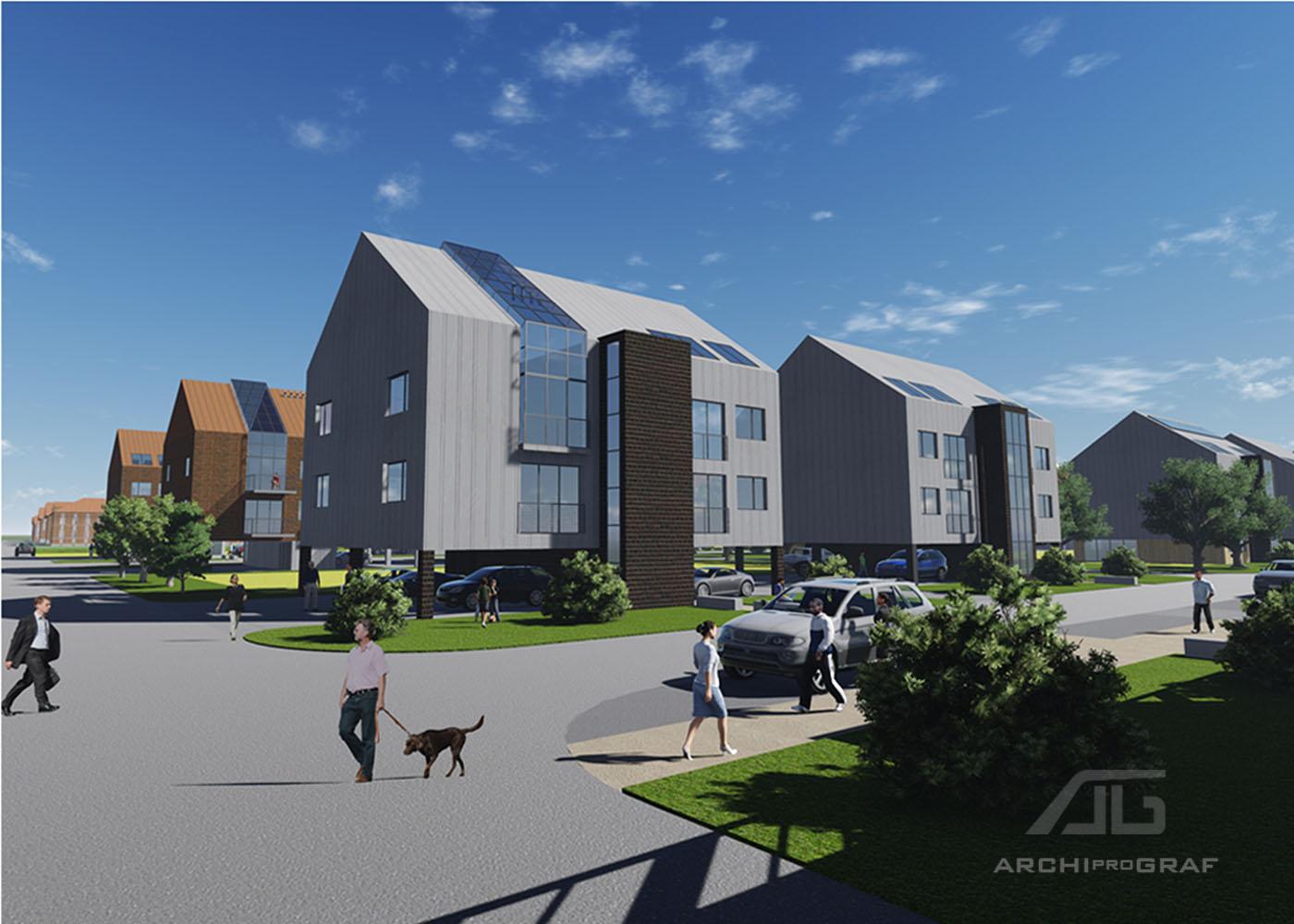 Projekt osiedla w Bytomiu