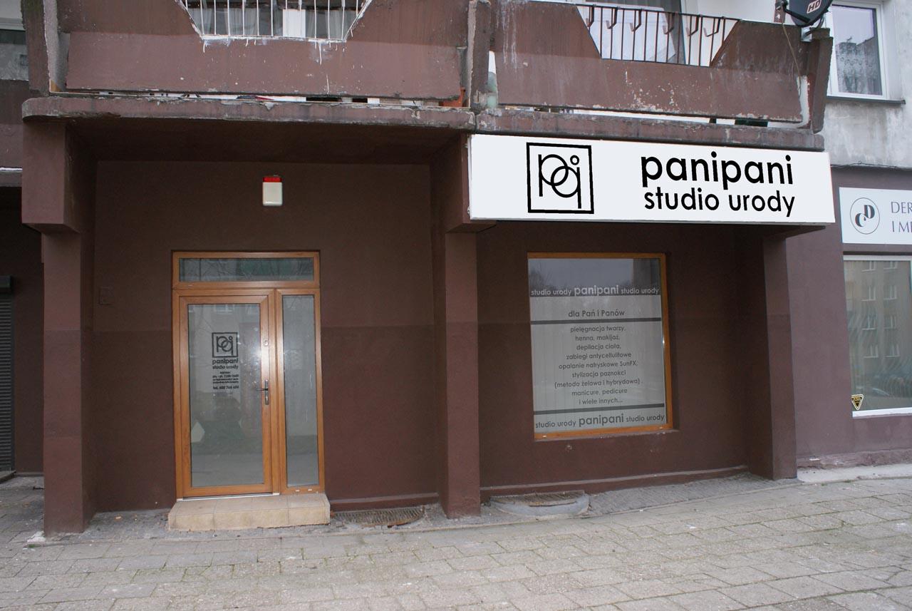 Projekt reklamy świetlnej dla studia kosmetycznego panipani w Świętochłowicach