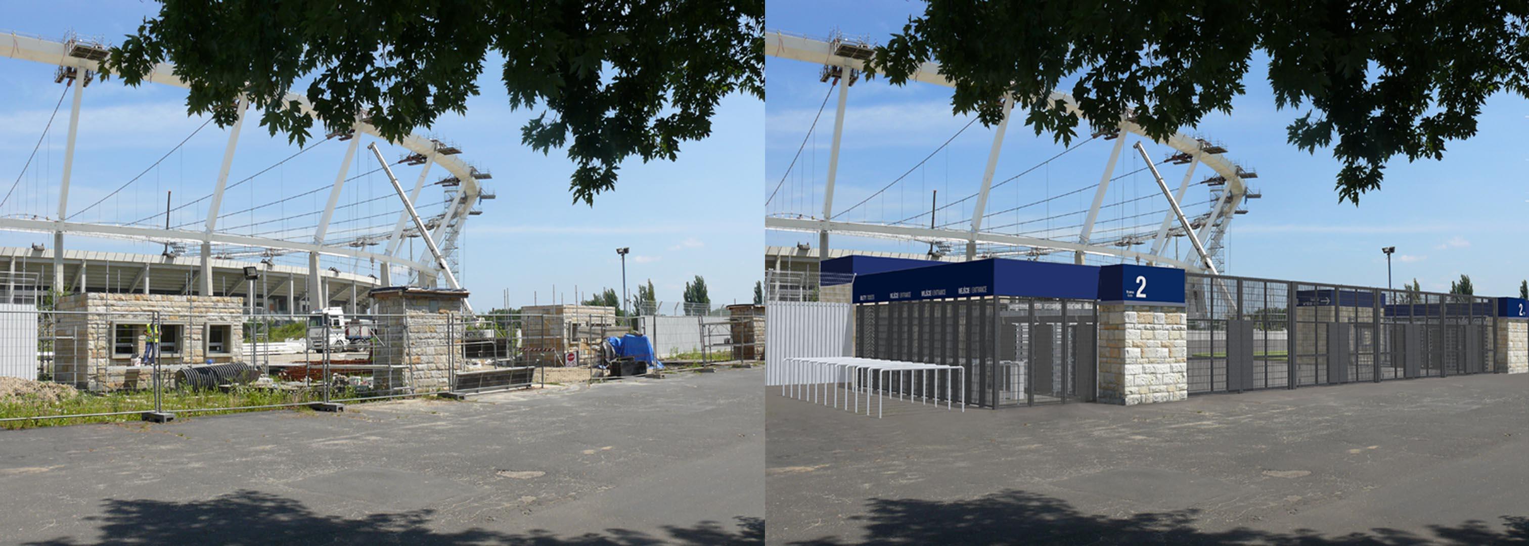 Wizualizacja wejść na stadion Śląski w Chorzowie